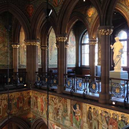 Scottish National Portrait Gallery: A view from inside the gallery