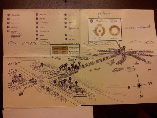 AVANI Sepang Goldcoast Resort: resort layout