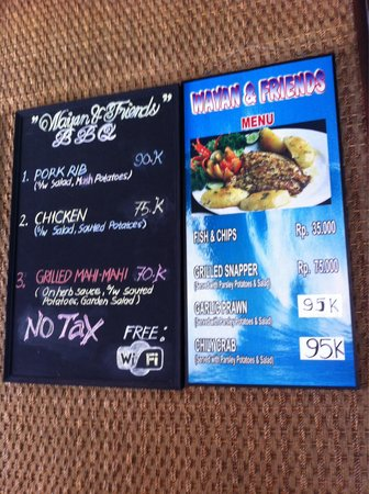 Wayan & Friends : Menu of the day and other regular