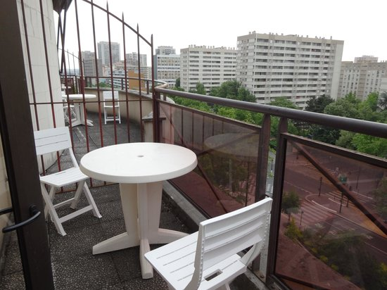 Timhotel Paris Place D'Italie : Petite terrasse au 7ème étage