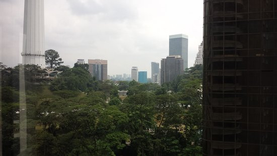 Shangri-La Hotel Kuala Lumpur : View from bedroom showing only the shaft of KL Tower