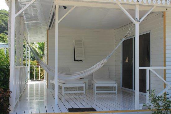 Opoa Beach Hotel : la terrasse