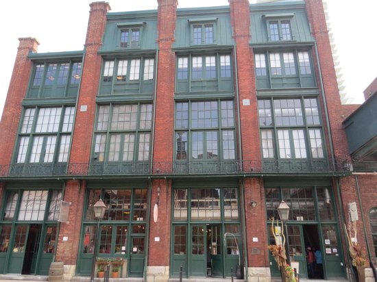 Distillery Historic District: Shops on ground floor of building