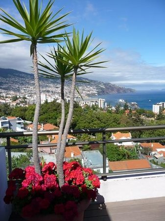 Savoy Gardens: from the rooftop sunbathing area towards Funchal