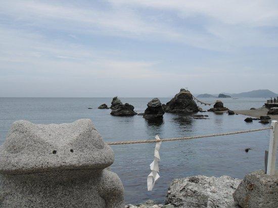 Meotoiwa: 夫婦岩とカエル
