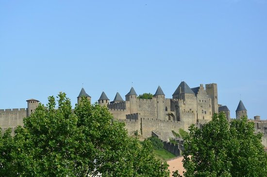 View from the entry of the Carcassonne Guesthouse, even better views are to be had from the terr
