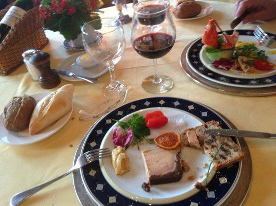 Restaurant La Couronne: delicieux fois gras