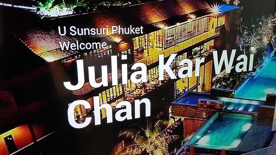 Sunsuri Phuket: Awesome welcome upon arrival to our room