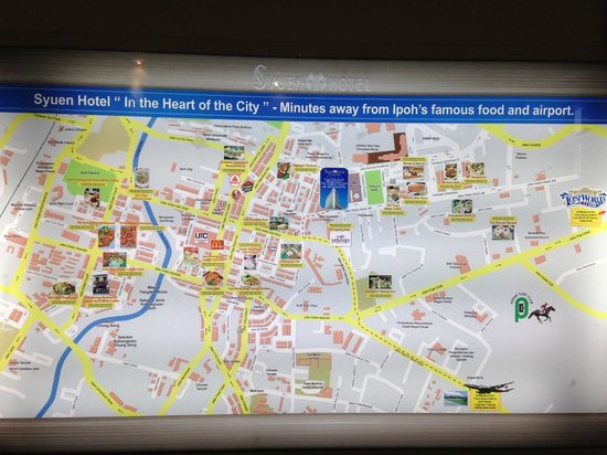 Ipoh map of attractions Picture of Syuen Hotel Ipoh TripAdvisor