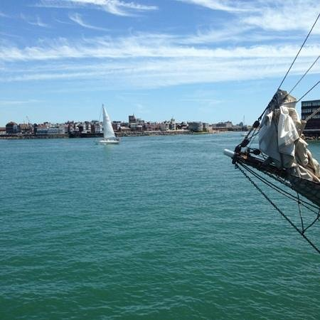 Trinity's At The Lightship: the veiw of old portsmouth and the hot walls
