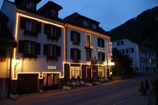 Esos Hotel Quelle: A charming evening of Esso Quelle Hotel and Bad Ragaz