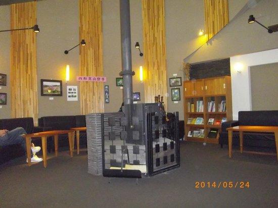 Sawauchi Gingakogen Hotel: ロビーの暖炉