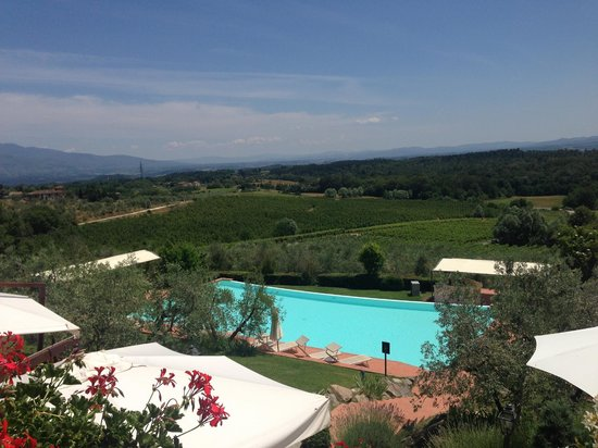 Hotel Villa La Palagina: View from the hotel overlooking one of the pools