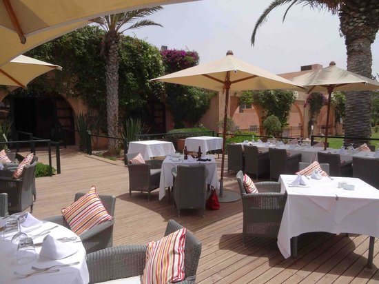 Tikida Golf Palace: la terrasse du restaurant