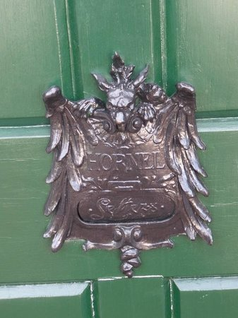 Broughton House & Garden: Letterbox with a differenece
