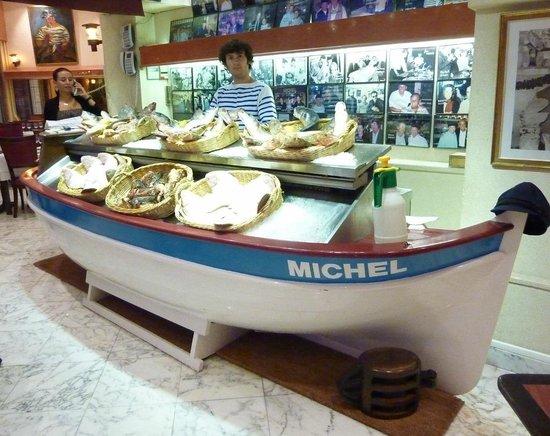 Restaurant Chez Michel: Fischtheke