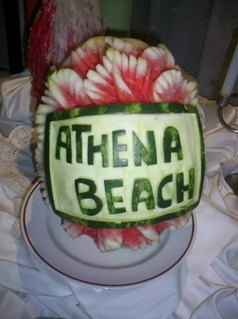 Constantinou Bros Athena Beach Hotel: watermelon art