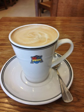 Ampleforth Abbey: Latte at the abbey Tea Room.