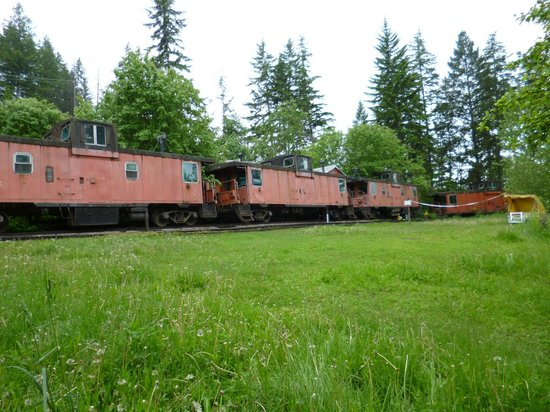 HI-Shuswap Lake Hostel : The train car rooms