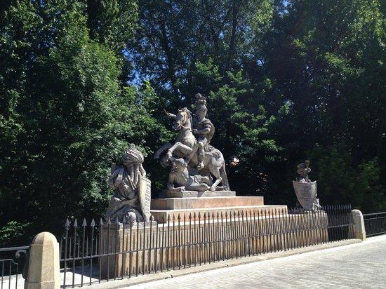 Parc Łazienki : statue