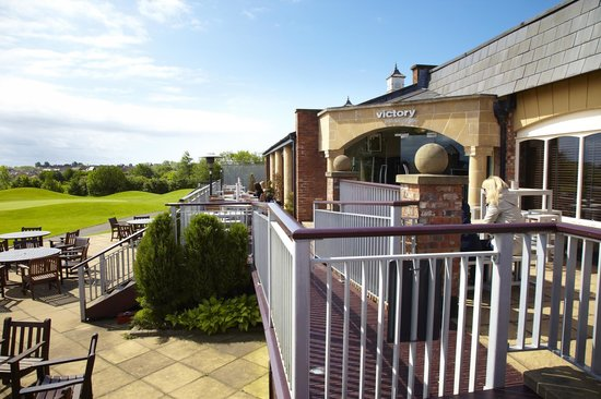 Village Hotel Blackpool : Terrace overlooking the Golf Course