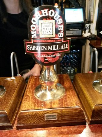 Restaurant at Shibden Mill Inn: Their own beer is very good. Not brewed by them but a mixture of two beers made by a local brewe