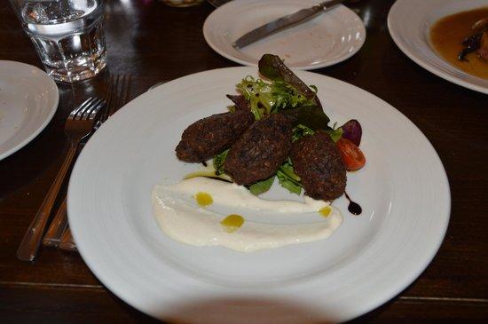 Morrels Restaurant : Blood pudding/haggis Beignet