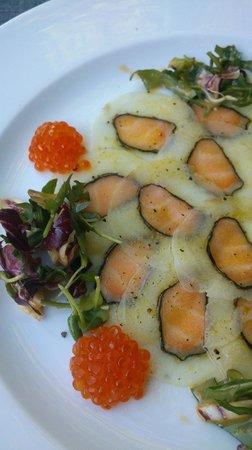 Romantik Hotel Johanniter-Kreuz: Fisch carpaccio