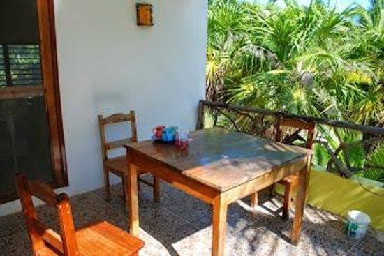 Xamach Dos: patio / deck off our suite