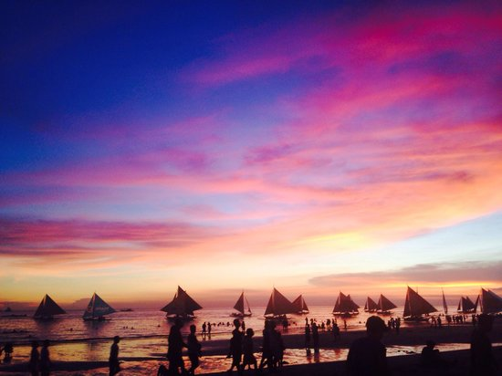 White Beach: Sunset