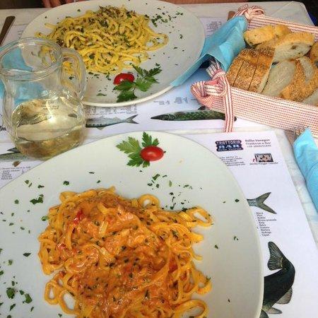 Trattoria Bella Venezia: Our delicious pasta lunch!