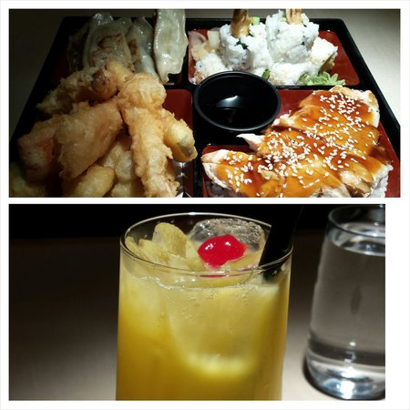 Shogun Japanese Steakhouse: Box 2 and a delicious cocktail!