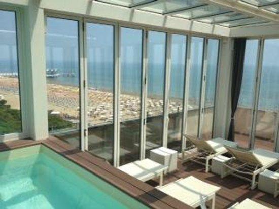 Hotel Europa: Poolbereich am Dach