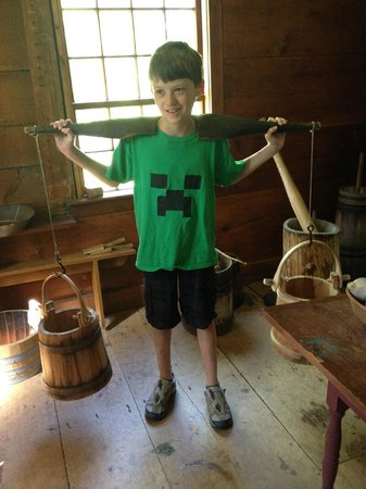 Ethan Allen Homestead : Grandson learning that water had to be brought daily from the river to the house.
