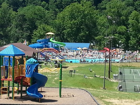 Clarksburg, WV: the park and splash zone from afar