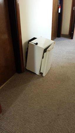 Riadh Palms Hotel: hallway fridge 3 days not removed