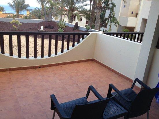 Occidental Jandía Mar: Our balcony, (towell rail on wall)