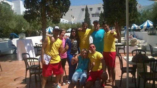Hotel Diar Lemdina : Her er vi sammen med animatorene.