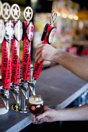 Starr Hill Brewery: The Tap Room boasts 16 rotating drafts on a state-of-the-art draft system.