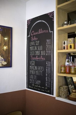 Casablanca Sandwicherie: Menu- tres simple