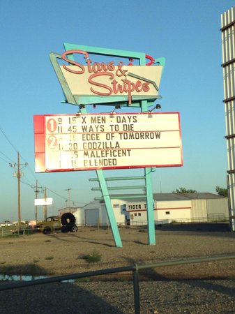 Stars & Stripes Drive-In Theatre: Beautiful sign.