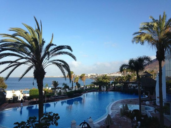 H10 Timanfaya Palace: a view from our sea view facing balcony