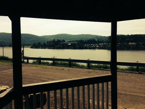 Rocky Gap Casino Resort: View from the Dam to resort