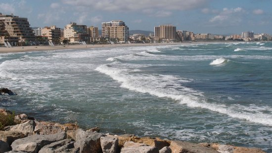 Playa de Morro de Gos: Gesamtansicht