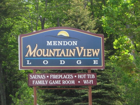 Mendon Mountainview Lodge : Sign outside