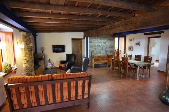 Can Soler De Rocabruna: Estar junto a la chimenea