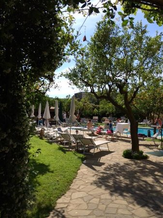Antiche Mura Hotel: Lovely Pool area with lemon trees and bar