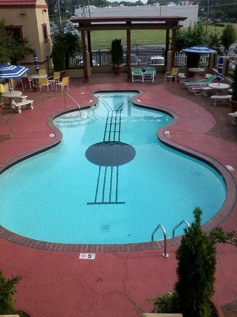 The Guitar Shaped Pool Picture Of Days Inn Memphis At