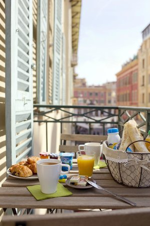 Ajoupa Apart'hotel Nice : petit déjeuner