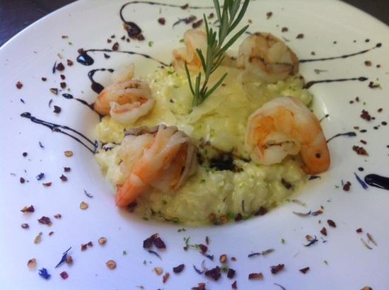 Cafe de la Collegiale : risotto aux crevettes